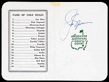An Augusta National Golf Club scorecard signed by Jack Nicklaus in 1976,