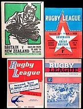 38 Rugby League programmes for Test Matches played in New Zealand and Austr