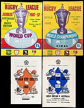36 Rugby League World Cup programmes in England and Australia,  Tournam