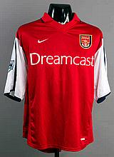 Giovanni van Bronckhorst: a red & white Arsenal No.16 jersey season 2001-02