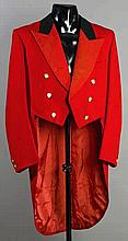 A Royal Birkdale Golf Club red captain's jacket,  by Thomas Davis of Ma