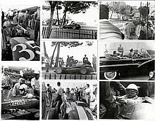 1957 period photos of that year's Monaco Grand Prix, Monzanapolis, and a sp