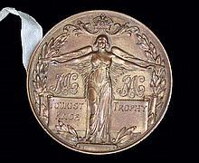 1930s RAC Tourist Trophy Race un-issued finisher's medal,  a gilt-bronz