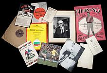 A miscellany of football memorabilia,  autographed items including a Bo