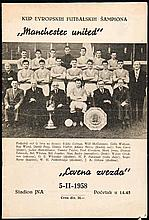 Red Star Belgrade v Manchester United programme 5th February 1958,  sol