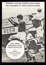 Dukla Praha v Manchester United programme 4th December 1957,  excellent