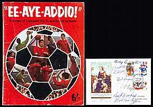 An autographed souvenir Liverpool FC book