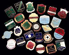 A group of 26 gilt-metal & enamel Football Association Steward's badges fro