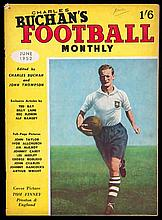 A collection of Charles Buchan Football Monthly magazines,  bound volum