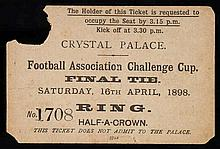 A F.A. Cup Final ticket Nottingham Forest v Derby County played at the Crys
