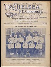 Chelsea v Celtic programme 18th April 1923,  friendly played at Stamfor