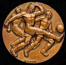 A 1934 World Cup participant's medal awarded to the Italian footballer Virg