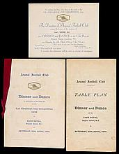 A signed Arsenal 1936 F.A. Cup Final Dinner menu,  held at the Cafe Roy
