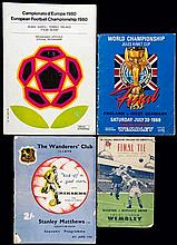 A collection of 63 football programmes,  including 21 F.A. Cup Finals d
