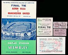1957 F.A. Cup Final programme, ticket and ephemera,  Cup Final ticket a