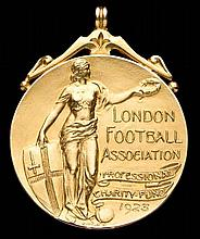 A 9ct. gold London Football Association Professional Charity Fund medal awa