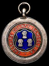 A football medal of Chelsea interest,  a Cheshire County Schools F.A. s