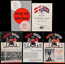 69 Manchester United home programmes,  homes, 1948-49 x 1, 50-51 x 1, 5