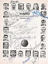 An autographed 1966 World Cup Final programme,  the England team page w