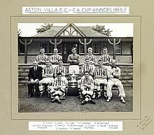 Aston Villa 1957 F.A. Cup winning team official b&w; photograph.  by Alb