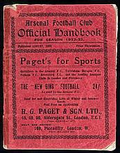 An Arsenal FC handbook season 1922-23,  sold together with an Arsenal F