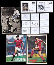A large collection of football autographs,  comprising: 50 signed comme