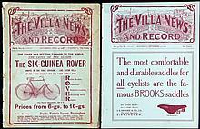Aston Villa v Sunderland programme 19th September 1908,  with original