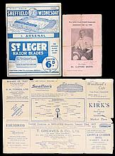 Two Arsenal away programmes,  Sheffield Wednesday 2nd March 1935 & Ches