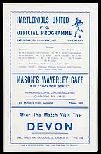 Hartlepools United v Manchester United programme 5th January 1957,  F.A