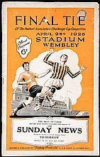F.A. Cup Final programme Bolton Wanderers v Manchester City 24th April 1926