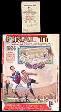 F.A. Cup Final programme Aston Villa v Newcastle United 26th April 1924,