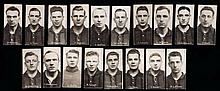 A very rare set of 18 real photo trade cards of Wolverhampton Wanderers pla