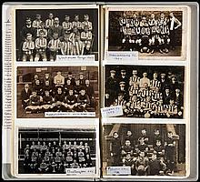 56 football postcards of local and junior football teams in the north-east