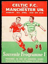 Celtic v Manchester United programme 16th April 1955,  charity match fo