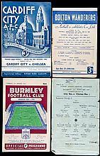 140 Chelsea away programmes dating between season 1954-55 and 1959-60,