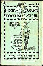 Derby County v Newcastle United programme 26th April 1930