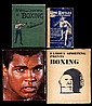 Frank Duffett's library of boxing books, a large