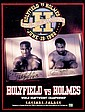 A double-signed Evander Holyfield v Larry Holmes