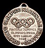 A medal presented by the Italian Olympic Committee