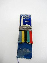 A Helsinki 1952 Olympic Games official's badge,