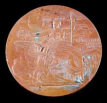 An 1896 Athens Olympic Games participation medal,