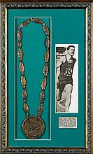 A Rome 1960 Olympic Games bronze prize medal