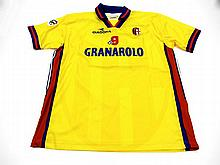 Kennet Andersson: a yellow Bologna No.19 Serie A