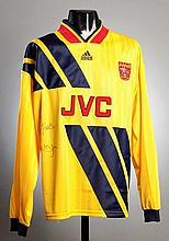An Ian Wright signed yellow & blue 1994 style