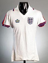 Phil Neal: a white England No.2 jersey mid-1970s,