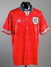 A red England No.18 jersey dating between 1990 and