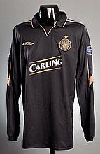 Chris Sutton: a black & gold Celtic No.9 away