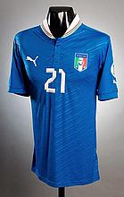 Andrea Pirlo: a blue Italy No.21 international