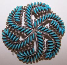 *ZUNI NEEDLEPOINT PIN