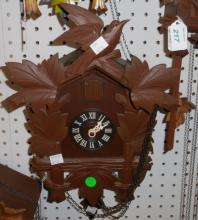 *GERMAN 8-DAY BLACK FOREST CUCKOO CLOCK